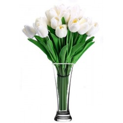 Artificial Tulips Flowers for Multiple Occasions - White